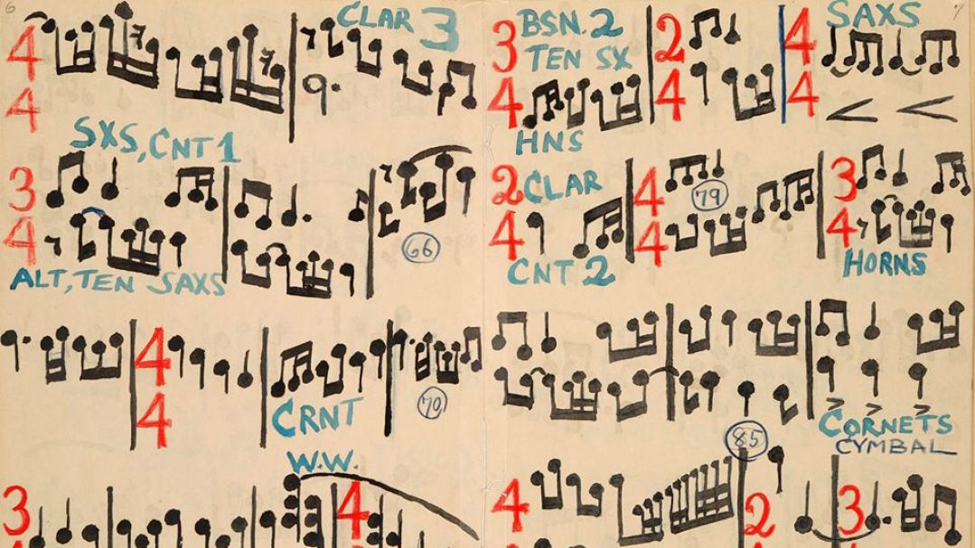 Colourful 'blind eye' musical score by Percy Grainger