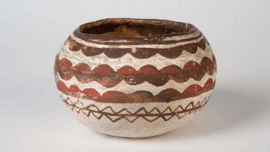 Indigenous clay pot from The Leonhard Adam Collection