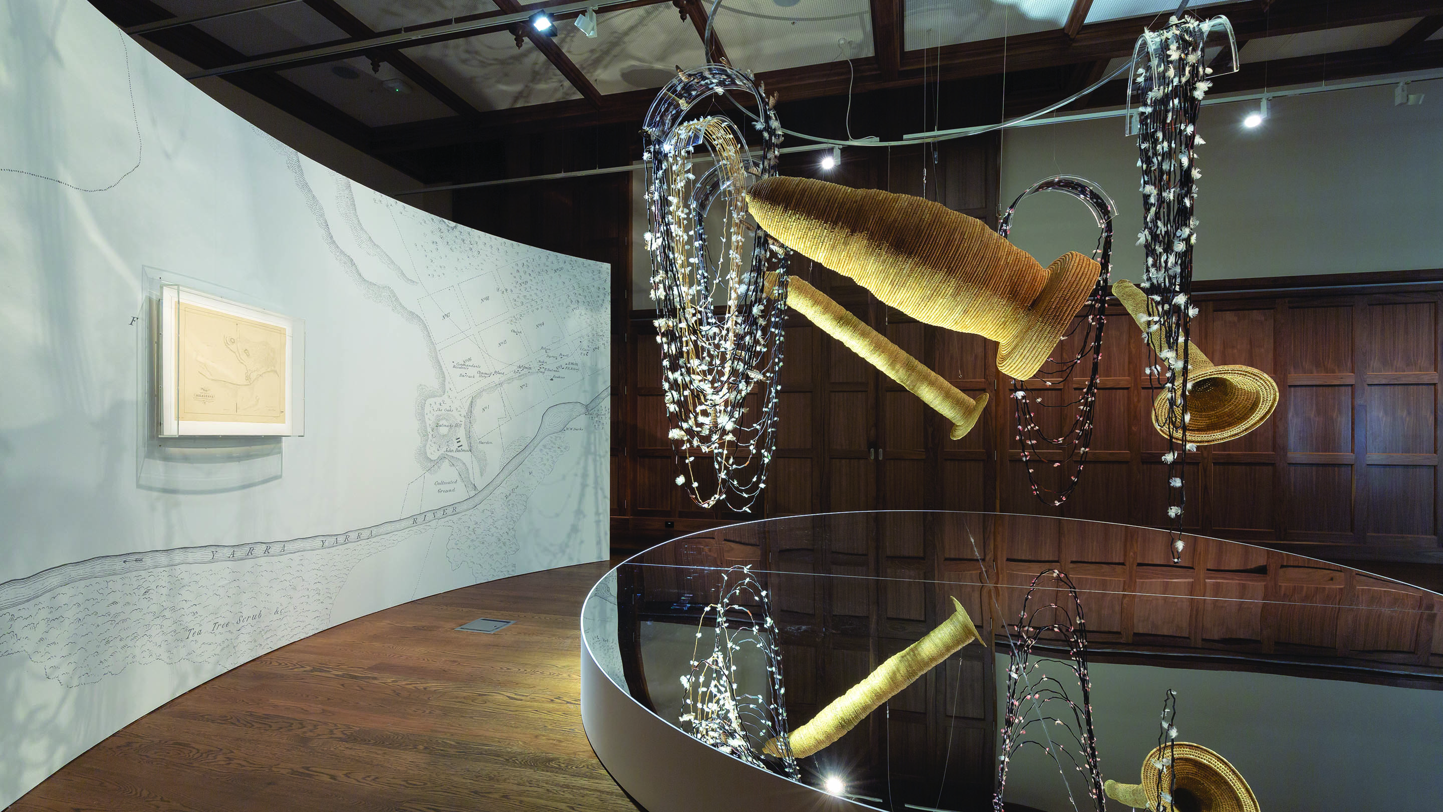 Installation view of the work Ancestral Memory by artist Maree Clarke